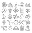 egypt icons set in thin line style vector image vector image