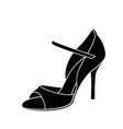 elegant sketched woman s shoe for argentine tango vector image