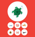 flat icon nature set of cancer periscope vector image vector image