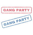 gang party textile stamps vector image vector image