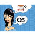 Girl coffee vector image