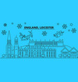 great britain leicester winter holidays skyline vector image vector image