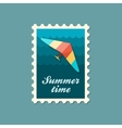 Hang Glider stamp Summer Vacation vector image vector image