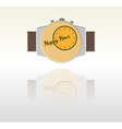 happy hour background with watch vector image vector image