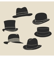 Hat label set vector image vector image