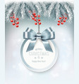 holiday christmas background with a gift card and vector image vector image