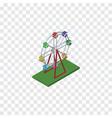 isolated ferris wheel isometric recreation vector image