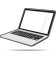 Isolated laptop vector image vector image