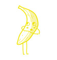 kawaii cute surprised banana fruit vector image vector image