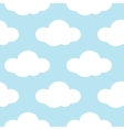 Light blue sky with white clouds seamless vector image