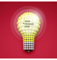Lightbulb Idea Concept 3d Spheres Composition vector image