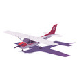 low poly small airplane vector image
