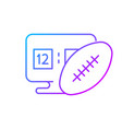 online football games gradient linear icon vector image
