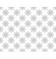 outline geometric floral pattern seamless vector image vector image