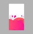 pink abstract fluid social media background vector image