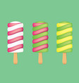 popsicle ice cream vector image