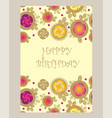 postcard invitation with rose and leaves vector image