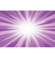 Purple pop art retro burst background vector image vector image