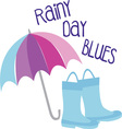 RAiny Day Blues vector image vector image