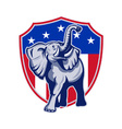 Republican Elephant Mascot USA Flag vector image vector image