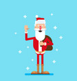 santa claus is waving his hand vector image vector image