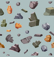 Seamless texture with different colors rocks