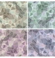 Set of Triangle Abstract Backgrounds vector image