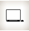 Silhouette laptop on a light background vector image