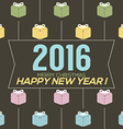 Simply and Clean 2016 New Year Card vector image vector image