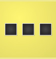 square frame isolated on yellow vector image vector image
