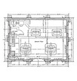 substation floor residence plan is showing the vector image vector image