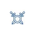 swords protection line icon concept swords vector image vector image