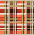 tartan seamless texture mainly in brown hues vector image vector image
