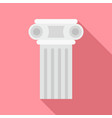 temple pillar icon flat style vector image