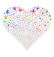 thumb up fireworks heart vector image vector image