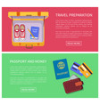 travel preparation text sample vector image vector image