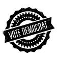 Vote democrat stamp vector image vector image