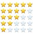 modern stars icon set on white vector image