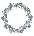 flower hand-drawn gentle frame vector image