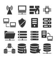 server icon set vector image