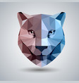 abstract polygonal tirangle animal cheetah vector image vector image