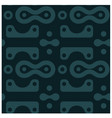 amazing curvy rounded shapes seamless pattern vector image