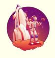astronaut or spacemen character wearing space suit vector image vector image