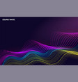 beautiful 3d wave shaped array blended points vector image vector image