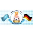 Beautiful blonde girl with a beer Oktoberfest