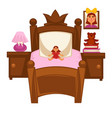 bed of little girl vector image