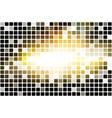 black yellow white occasional opacity mosaic over vector image