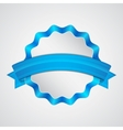 Blue badge with ribbon vector image