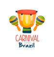 brazil carnival logo bright festive party banner vector image vector image