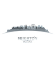 Brighton England city skyline silhouette vector image vector image